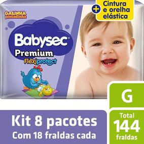 Kit Fralda Babysec Galinha Pintadinha Premium G - 144 Unids