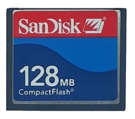Cartão De Memória Compact Flash Cf Sandisk 128mb