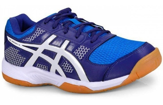 Tênis Asics Gel-rocket Blue Print/white Tennis/padel Nf