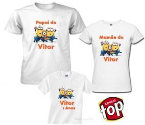 Camisas Kit Aniversario ,kit 3 Camisas Aniversário, Festas