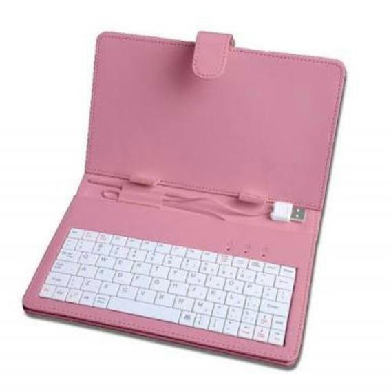 Case Para Tablet Com Teclado E Cabo Usb