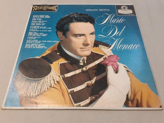 Operatic Recital, Mario Del Monaco Lp Vinilo Made In Usa Ex
