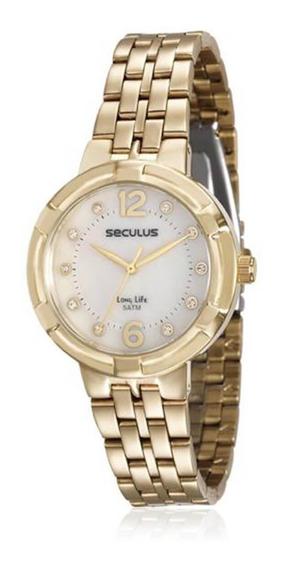 Relógio Feminino Seculus Analógico 23569lpsvda1 Dourado