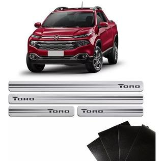 Soleira Da Porta Resinada Com Black Over Fiat Toro 2017
