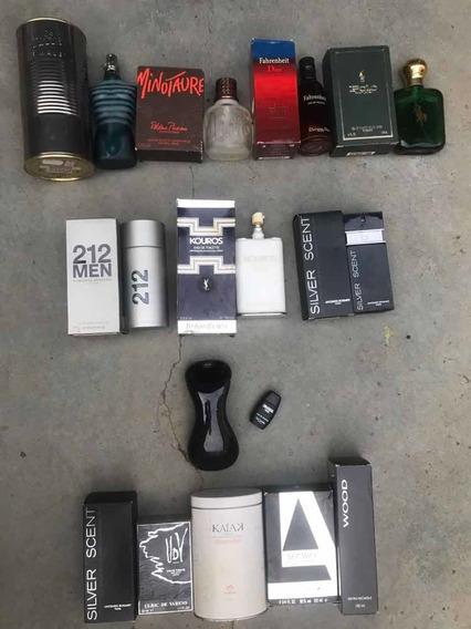 Lote Frasco Perfume Importado Vazio Para Coleção