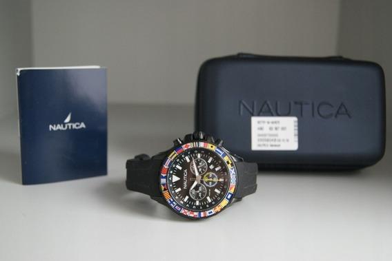 Relógio Náutica Bali Cronógrafo Nad21011g (pronta Entrega)