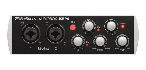 Presonus Audiobox Usb 96 2x2 Com Midi Interface De Audio