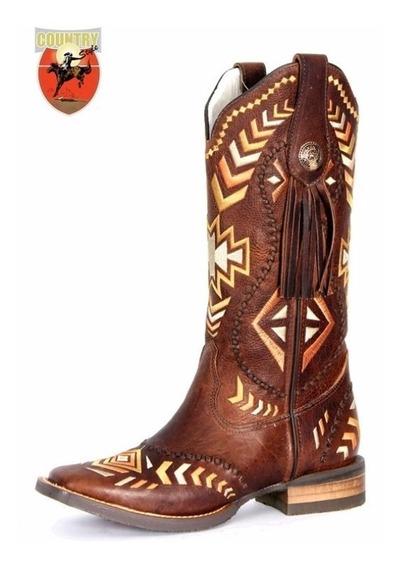 Bota Feminina Texana Goyazes Dallas - Tabaco 163249-cef