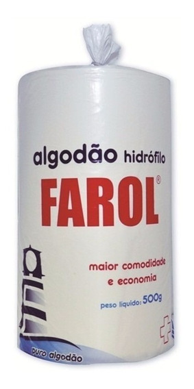 Algodão Hidrófilo 500 Gramas Rolo Farol
