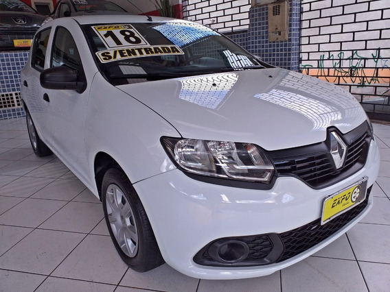 Renault Sandero 1.0 Flex 2018 Completo Sem Entrada 48x 1050,