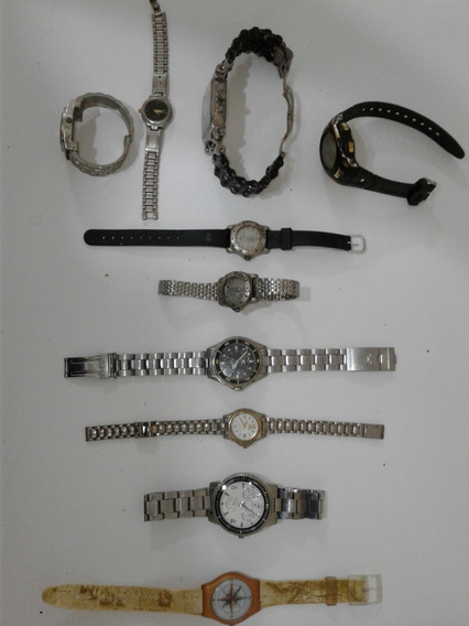 Lote Kit De Relógios Antigos Para Relojoeiro