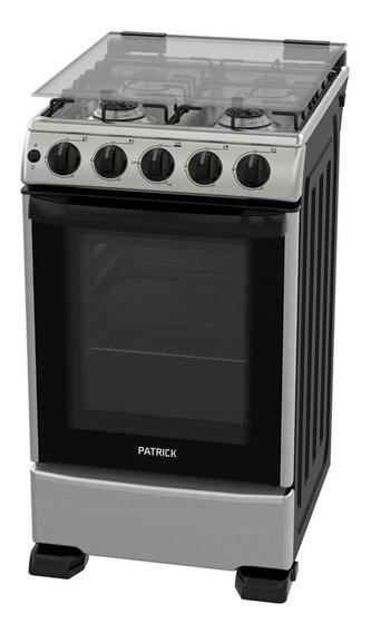 Cocina A Gas Patrick Cp9750i Inox 4 Hornallas 50 Cm Tio Musa