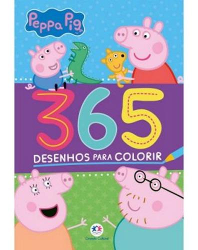 Imagem 1 de 3 de Livro Infantil 365 Desenhos Para Colorir - Peppa Pig