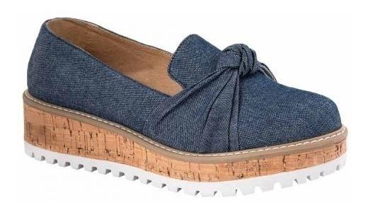 Zapatos Casuales Vi Line Dama 1503 Azules Plataforma 175884