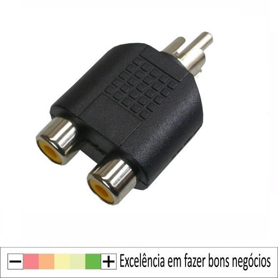 10x Adaptador Plug Rca P/2 Jack Rca