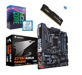 Kit 9ª Geração I5 9600k Z370m Gaming Aorus 8gb Fury 2400mhz