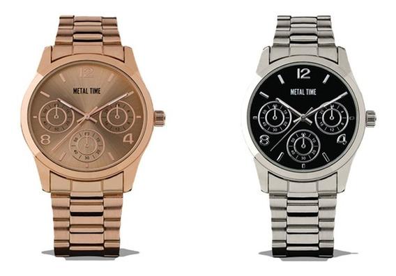 Clarín Colección Relojes Metálicos Set 2 De 2 Relojes