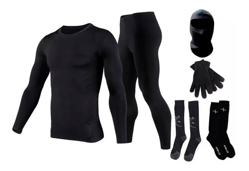 Equipo Termico Moto Remera+calza+balaclava+ Medias Oslo+gte