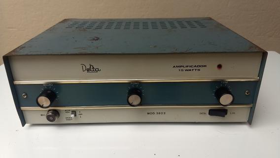 Amplificador Delta Mono, Modelo 3822, Revisado 100% Original