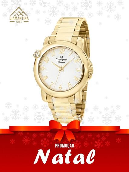 Relógio Feminino Dourado Champion Cn26626h