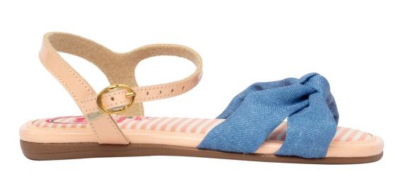 Sandália Feminina Molekinha Pessego/jeans 45813