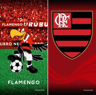 Especial! 02 Toalhas Banho Futebol Flamengo Oficial