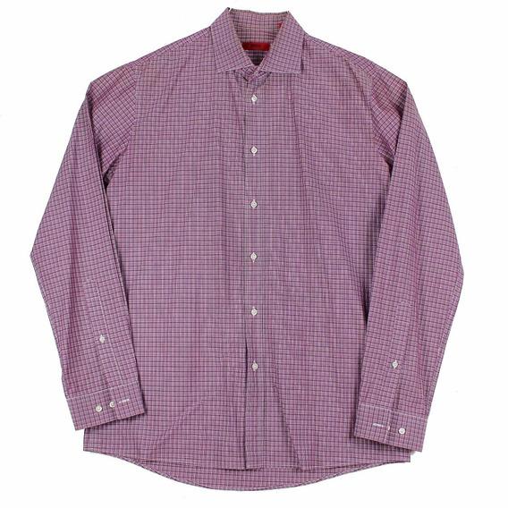 Camisa Hugo De Hugo Boss Plaid Pr Para Hombre Talla 16