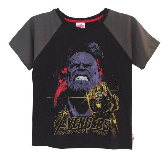 Playera Thanos De Marvel Oficial Para Niño Avengers Endgame