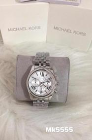 Relógio Michael Kors Mk5555 Prata Completo Com Caixa