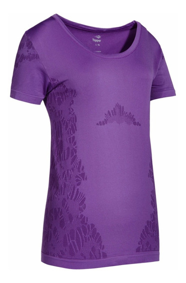 Remera Topper Seanless Violeta Royal Mujer