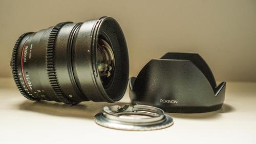 Lente Rokinon 24mm T1.5 Para Nikon (com Adaptador P/ Canon)