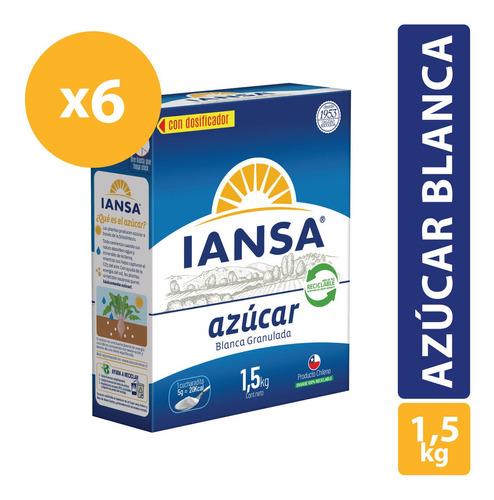 Azúcar Blanca Granulada En Caja 1,5kg Pack 6 Unidades