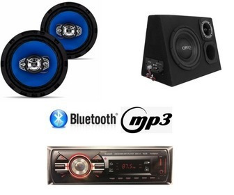 Kit Completo Caixa Amplificada + Radio Bluetooth + Falante 6