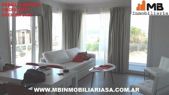 Villa Gesell Dpto 3 Amb.frente Al Mar En Medanos Del Sur