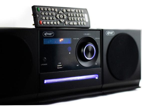 Mini System Dvd Cd Bluetooth Fm Usb P2 Mp3 Knup 6026bh