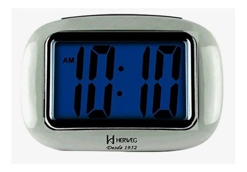 Relogio Despertador Digital Herweg Prata 2976-070
