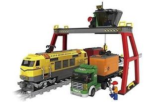 Bloques De Construcción Ausini Estación De Tren Locomotora D