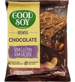 Brownie Chocolate Sem Glúten 40g - Good Soy