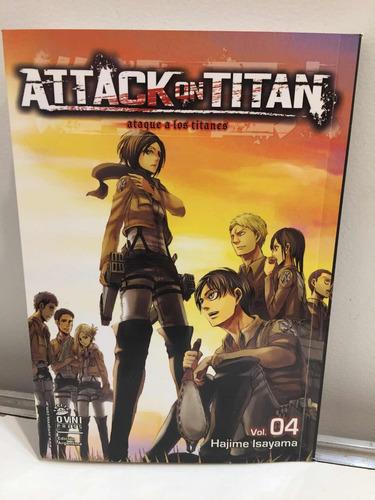 Imagen 1 de 1 de Manga, Kodansha, Attack On Titan Vol 4. Ovni Press