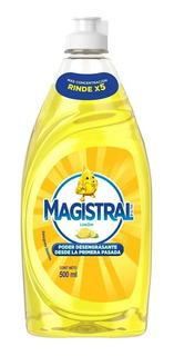 Detergente Magistral 500 Ml Limón X 6 Unid