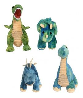 Dinosaurio Rex De Peluche 30 Cm Mediano Cuello Largo