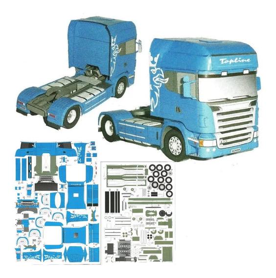 Camión Scania R580 1:32 (envío Archivo Papercraft X Email)