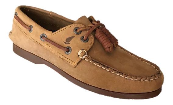 Zapato Casual Nautico Top Sailer 1801 Hombre Piel Miel Melle