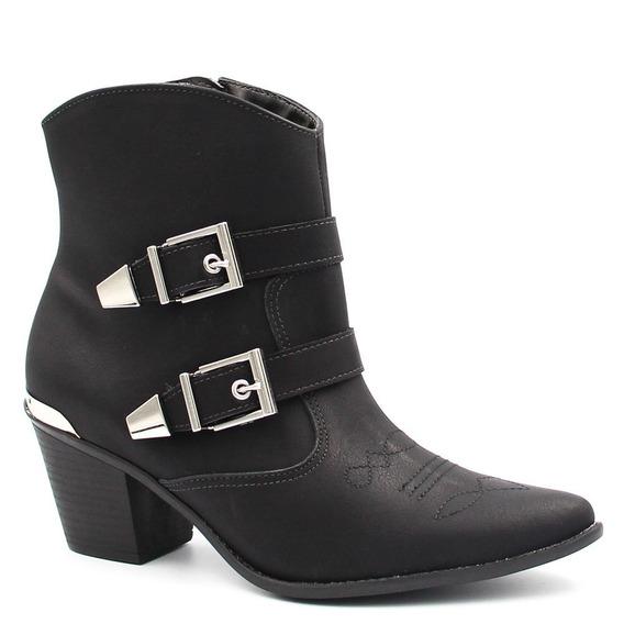Bota Cano Curto Via Marte Ankle Boot Fivela 18-6252