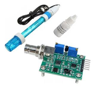 Sensor Detector De Ph + Sonda Electrodo + Liquido