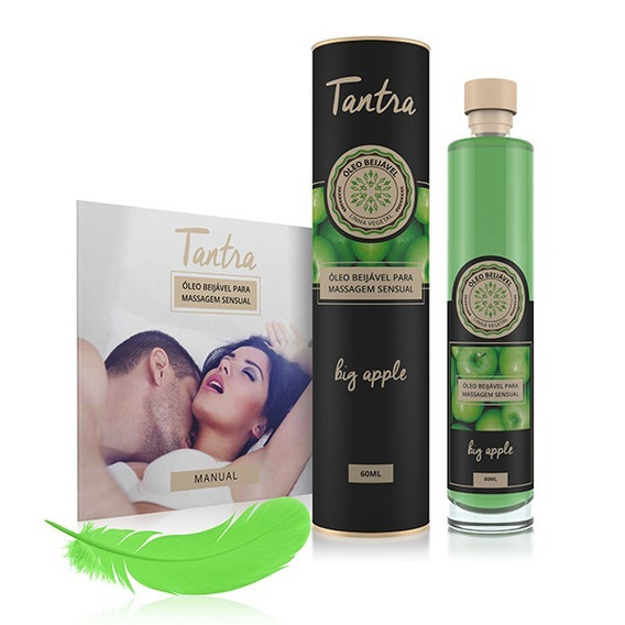 Óleo Sensual Beijável Tantra Maça Verde 60ml