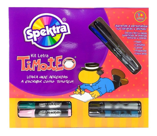 Kit De Marcadores Para Letra Timoteo X 23 Piezas Spektra