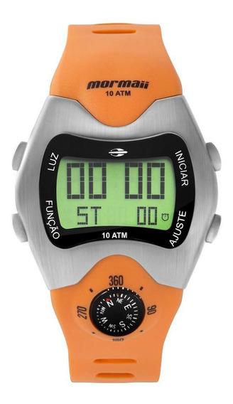 Relógio Masculino Mormaii Digital Mo1324ab/1l 44mm Laranja