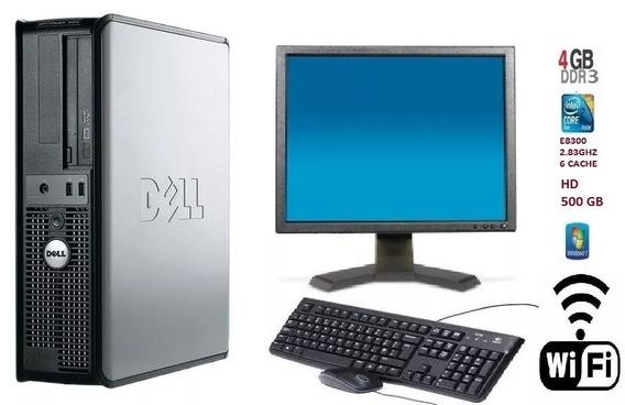 Pc Dell 380 Dual Core E5800/3.2 4gb Ddr3 / Hd 250 Gb + Wi-fi