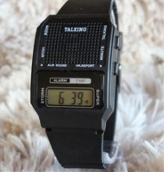 Relógio Deficiente Visual,fala Horas Em Português + Bateria